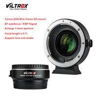 Viltrox EF EOS M2 Focal Reducer Booster Adapter Auto focus 0.71x for Canon EF mount lens to EOS M camera M6 M3 M5 M10 M100 M50