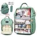 Вместительная сумка для подгузников  рюкзак  водонепроницаемая сумка для беременных  детские сумки для подгузников с usb-интерфейсом  дорожн...