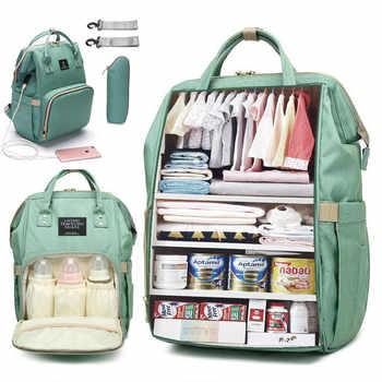 Вместительная сумка для подгузников, рюкзак, водонепроницаемая сумка для беременных, детские сумки для подгузников с usb-интерфейсом, дорожн...