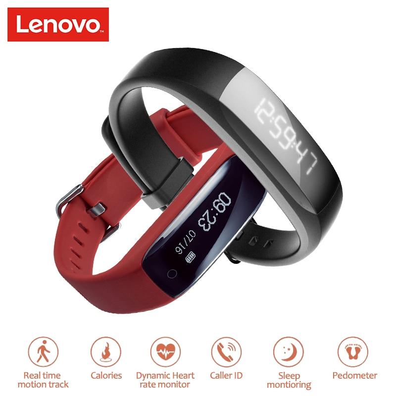 imágenes para Lenovo HW01 Pulsera Inteligente IP65 A Prueba de agua Pulsera Inteligente Táctil de Apoyo Clave Heart Rate Monitor Podómetro Cámara Remota