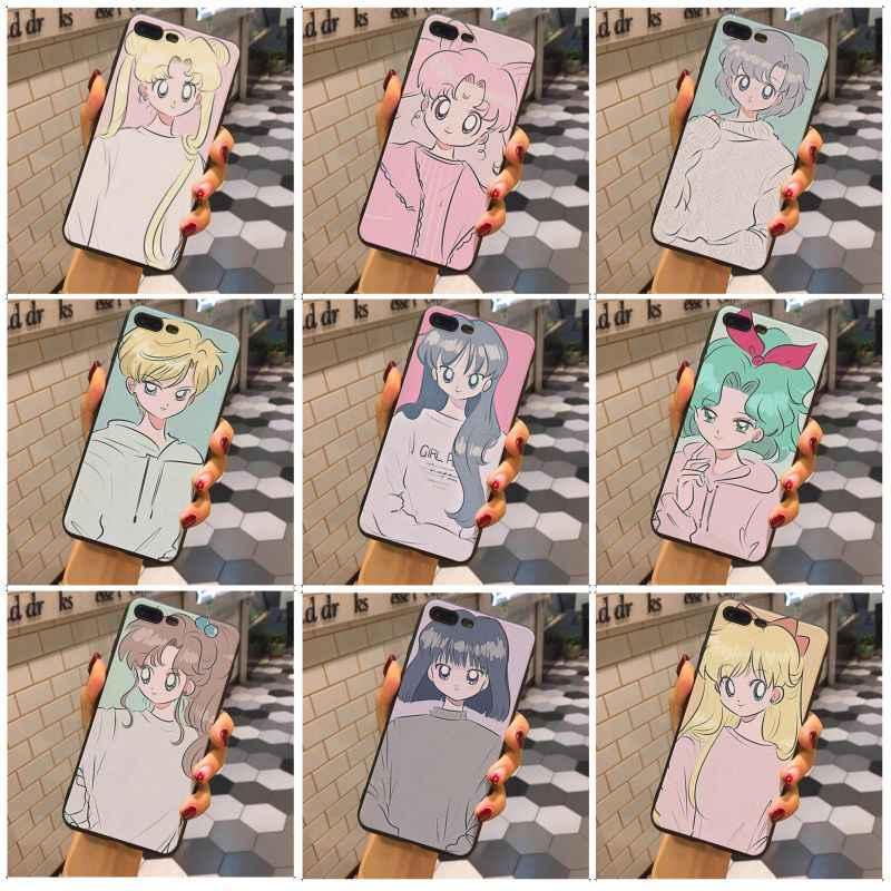 MaiYaCa Sailor Moon art caso preto macio tpu caso de telefone na venda Para Apple iphone 7 7 plus X XSMax XR XS 8 8 plus 6 s 6 6 plus 5 5S SE