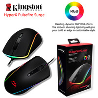 Kingston HyperX Pulsefire Surge RGB Lighting Gaming Mouse top tier FPS performance Pixart 3389 sensor with native up to 16000