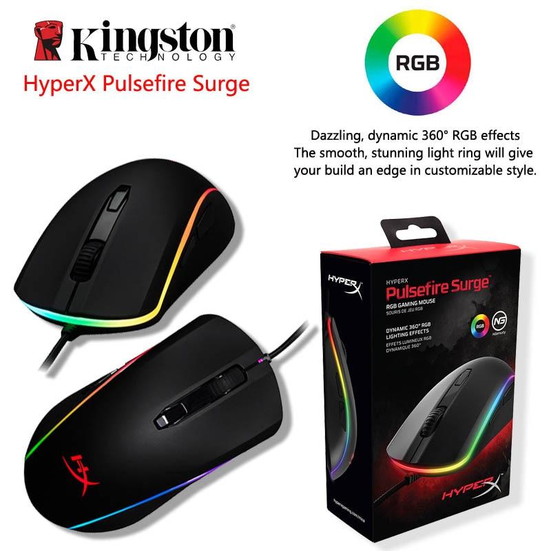 Kingston HyperX Pulsefire surtension RGB éclairage souris de jeu haut de gamme FPS performance Pixart 3389 capteur avec natif jusqu'à 16000