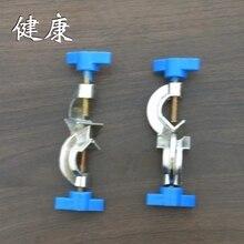 Экспериментальные материалы железная стойка Фитинг Двойной Топ провода удерживающее приспособление под прямым углом Железный зажим 2 шт