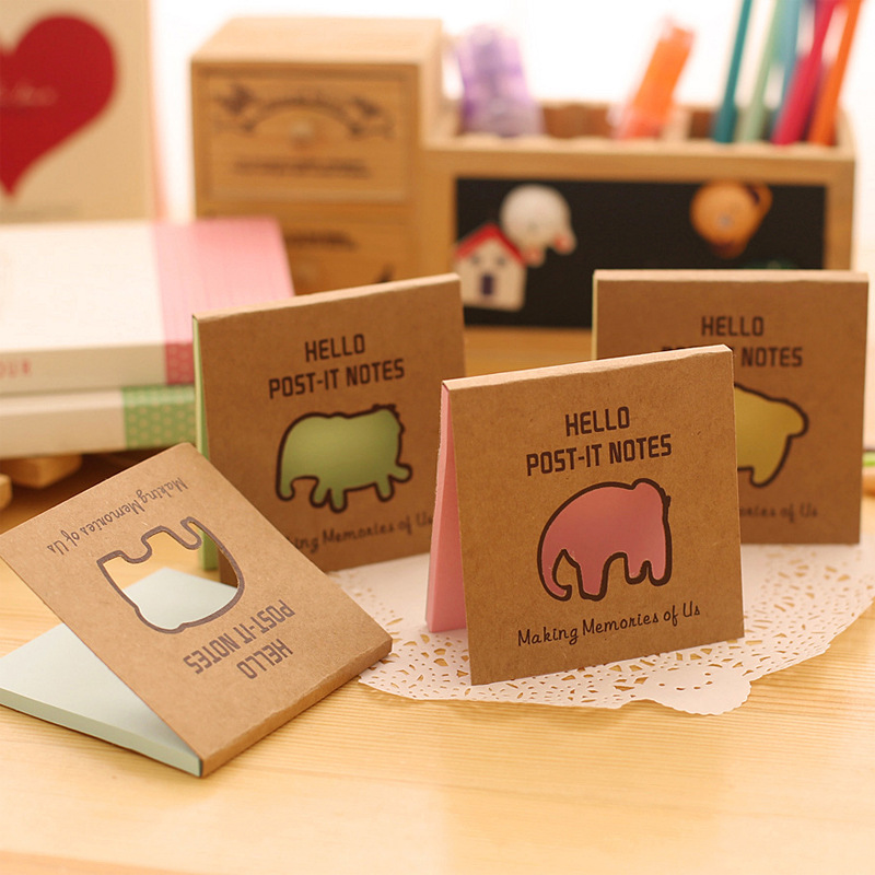 Cute Elephant Notepad / Memo pads / Sticky note /Label / Message Post Marker Stationery Office Papeleria School Supplies