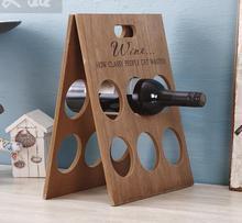 Plain Holz Faltbar Weinregal Weinflasche Rack Regal Wohnkultur