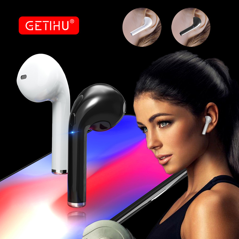 GETIHU Bluetooth Earphone Mini Wireless Earpiece Cordless Headphone Stereo Sport in ear Earbuds Headset For Phone iPhone Samsung free shipping wireless bluetooth headset sports headphone earphone stereo earbuds earpiece with microphone for phone