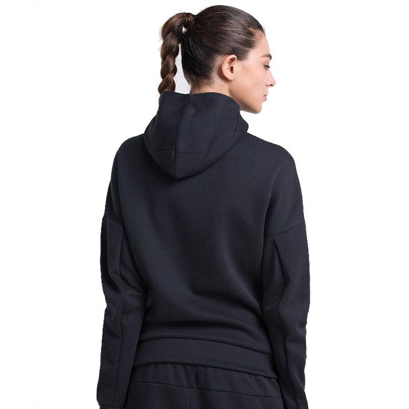 VANSYDICAL Autumn Winter Thermal Cotton Women Jacket Fitness Exercise Training Hoody XXL Zipper Outwork Clothing Sweatshirts