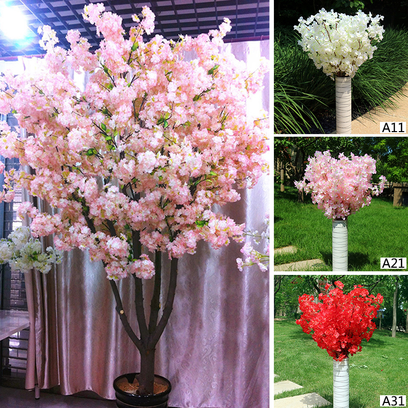 Natural vertical silk cherry blossom for wedding decoration diy natural vertical silk cherry blossom for wedding decoration diy cherry trees artificial flower bouquet big size decoration in artificial dried flowers mightylinksfo