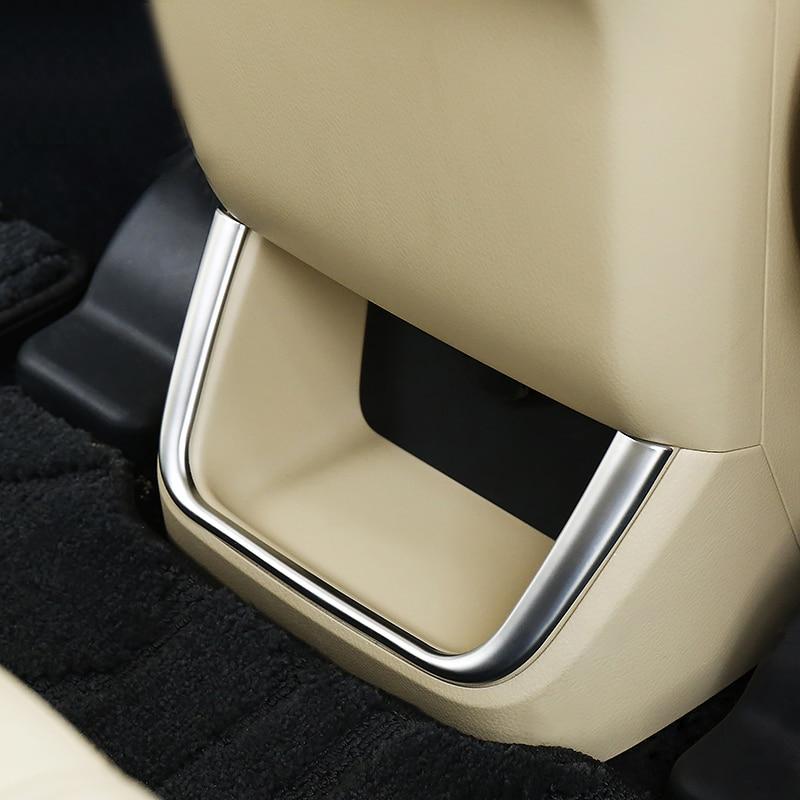 ABS!For Toyota Highlander 2014 2015 2016 2017 2018 Chrome Rear Armrest Air Vent Cover Trim Outlet Molding Garnish Frame