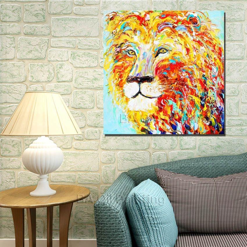 ᐊEnvío libre al por mayor cheap100 % pintado a mano abstracto ...