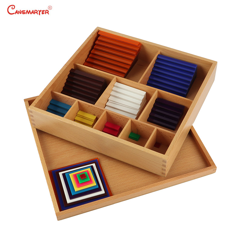 Math Toys Montessori Count Numbers Matching Wooden Toy Colorful Maths Puzzle Practice And Sence Educational Learning MA151-3