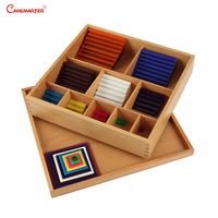 Math Toys Montessori Count Numbers Matching Wooden Toy Colorful Maths Puzzle Practice And Sence Educational Learning