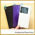 Новый Оригинальный Заднее Стекло Крышка Для Sony xperia Z2 L50W D6503 Задний Корпус Батарейного Отсека Корпус С NFC Разъем + Логотип
