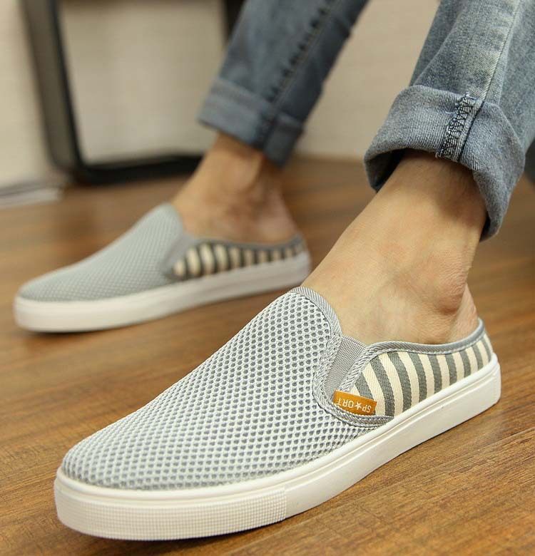 97151051cfff Breathable Mesh Flats Men 2015 Canvas Slip on Flats Shoes Mens Casual Soft  Summer Beach Shoe Slippers style.-in Women s Flats from Shoes on  Aliexpress.com ...