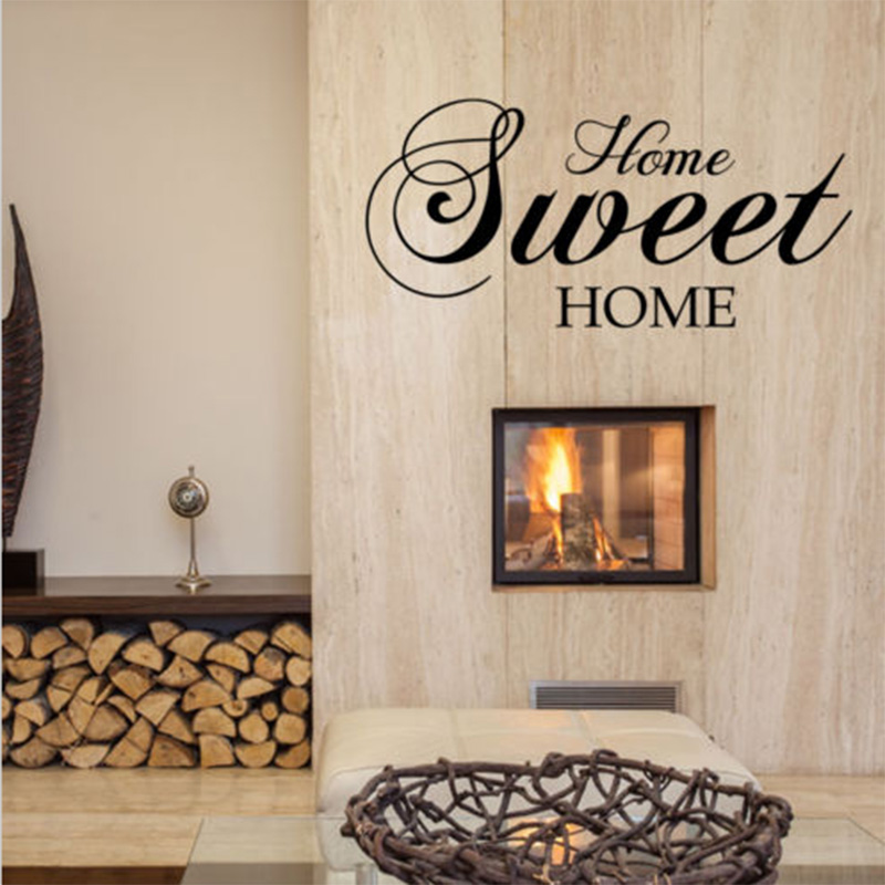Home Sweet Home Wall Stickers Quote Removable Vinyl Wall Sticker Home Decor Living Room mural Bedroom Art Decals wallpaper