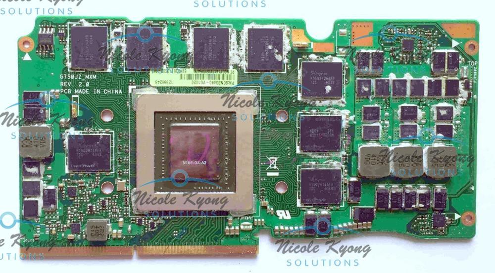 G750JZ Ver REV: 2.0 60NB04K0-VG1020 69N0QUV10C02-01 GTX 880 M GTX880M N15E-GX-A2 DDR5 4 GB VGA Vidéo Carte Pour Asus G750JZ ordinateur portable
