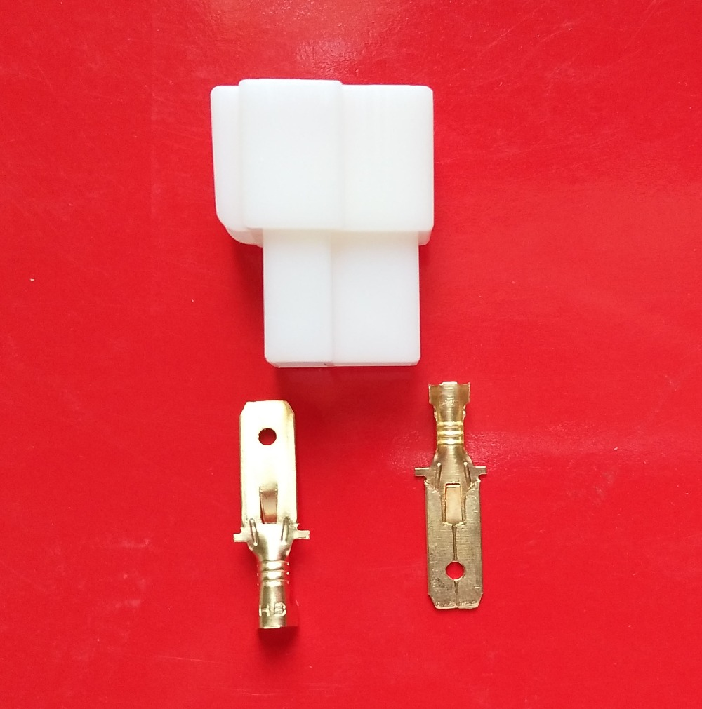 6.3mm 2p pin electrical wire connector terminal 2000xfemale housing 4000X male terminal free shipping 1000pcs dupont jumper wire cable housing female pin contor terminal 2 54mm new