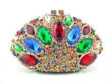 Freies verschiffen!! Z15-1.red farbe mode top kristallsteinen ring handtaschen für damen nette parteibeutel