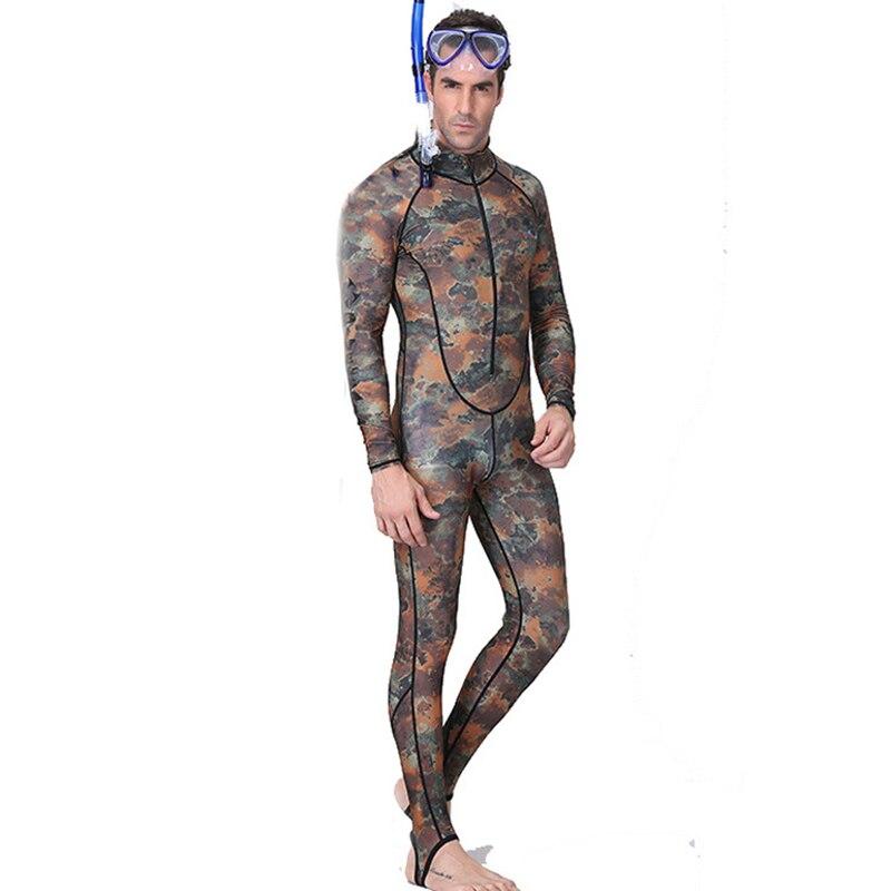 Camouflage Camo Plongée Rashguard Plongée Combinaison Costumes Hommes Natation Surf Humide Costume Maillot de Bain Salopette Body Maillots De Bain