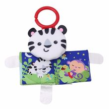Baby Toys Cat Crib Bumper Baby Rattles Knowledge Around Multi-Touch Colorful Bed Hanging For Kids Toys 21*14cm(China)