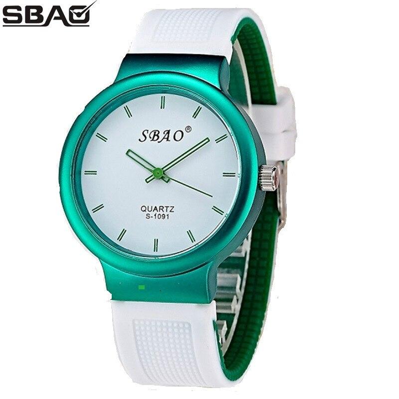 где купить SBAO Brand Silicone Watch Fashion Casual Women Waterproof Children Watches Top Brand Men Girl Female Clock Student Quartz Watch по лучшей цене