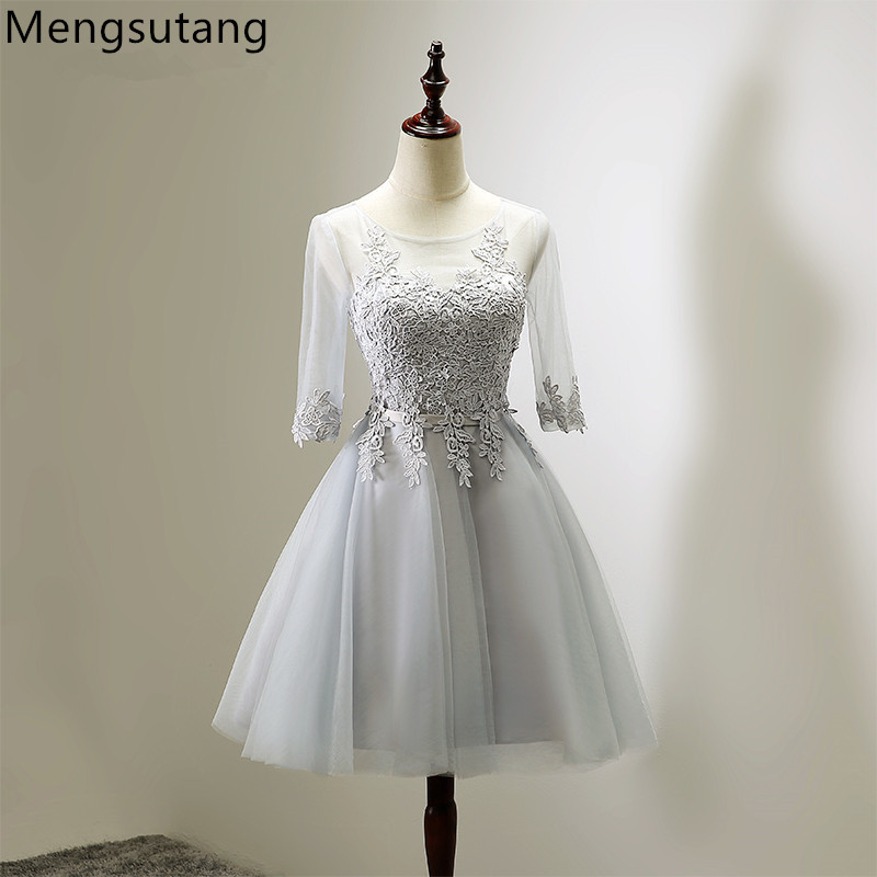 Robe de soiree 2019 short Lace up pink half sleeve Off Shoulder   evening     dress   abendkleider vestido de noche prom   dresses   gowns