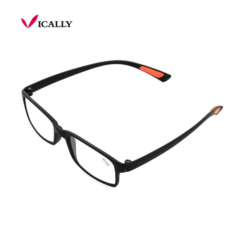TR90 Reading Glasses Super-Soft Ultralight Anti Fatigue Presbyopic Glasses gafas de oculos de grau Black Gift for Parents