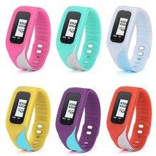 Neutral Watch Digital LCD Pedometer Run Step Walking Distance Calorie Counter Watch Bracelet Simple Women Men's Sports Watch P5