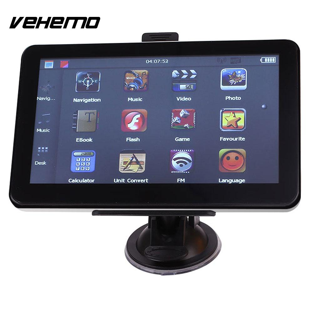 Vehemo 7 Inches Car Navigator Camera Vehicle GPS Navigator Electronics GPS Navigator For Photography Map Sensors For Recorder