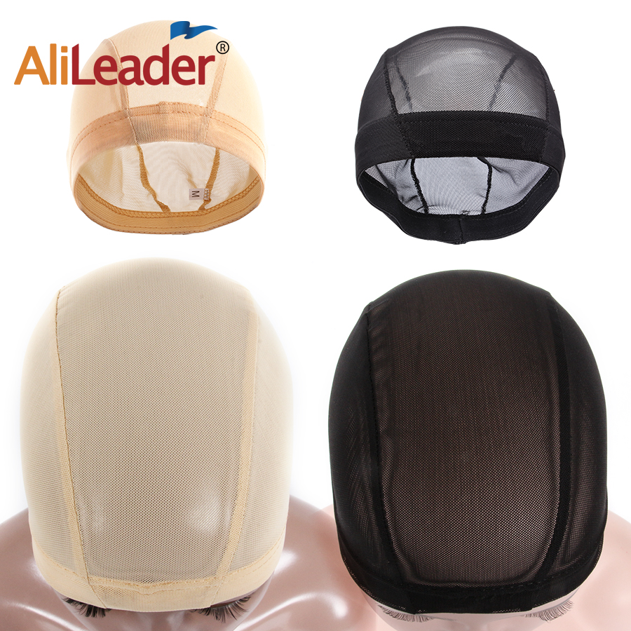 AliLeader S/LCheap Stretch Brown Stocking Cap Spandex Dome Mesh Cap For Wig Making Tools Hair Net Elastic Band For Wigs Grip Cap