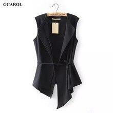 Women Irregular Length Vest With Sashes Fashion Summer Spring Thin Waiscoat Black&White Casual Street Wear Brand Vest