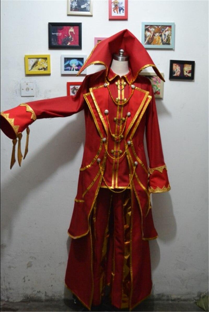 2018 Hot Anime LOL Cosplay Vladimir The Crimson Reaper Cosplay Costume Red Full Set Halloween Gift 2