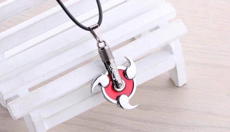 Naruto Uchiha Sharingan Pendant Necklace