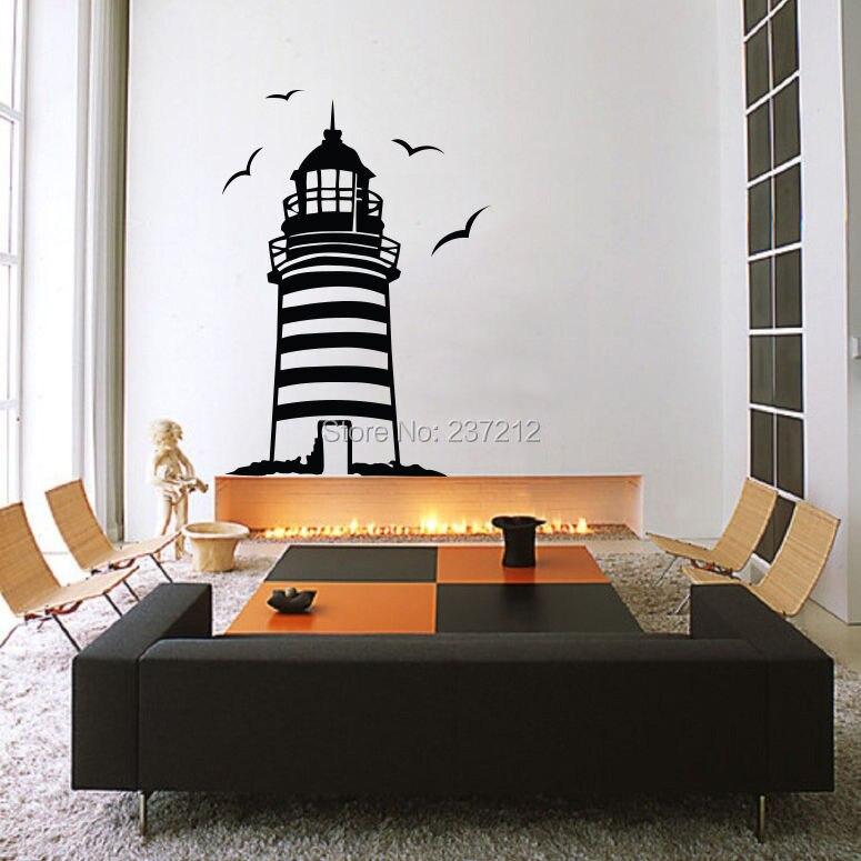 Lighthouse Bird Ocean Sea Bedroom Living Room Wall Sticker Decor Decal Diy