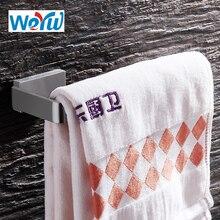 WEYUU Bathroom Accessories  Towel Ring 304Stainless Steel Wall-mounted  Towel Rack Bar Square Chassis Brushed Nickel цена 2017