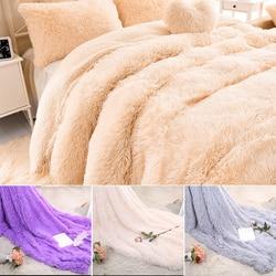 Soft Throw Blanket  Shaggy Fuzzy Fur Faux Bed Sofa Blankets Warm Elegant Cozy With Fluffy Sherpa