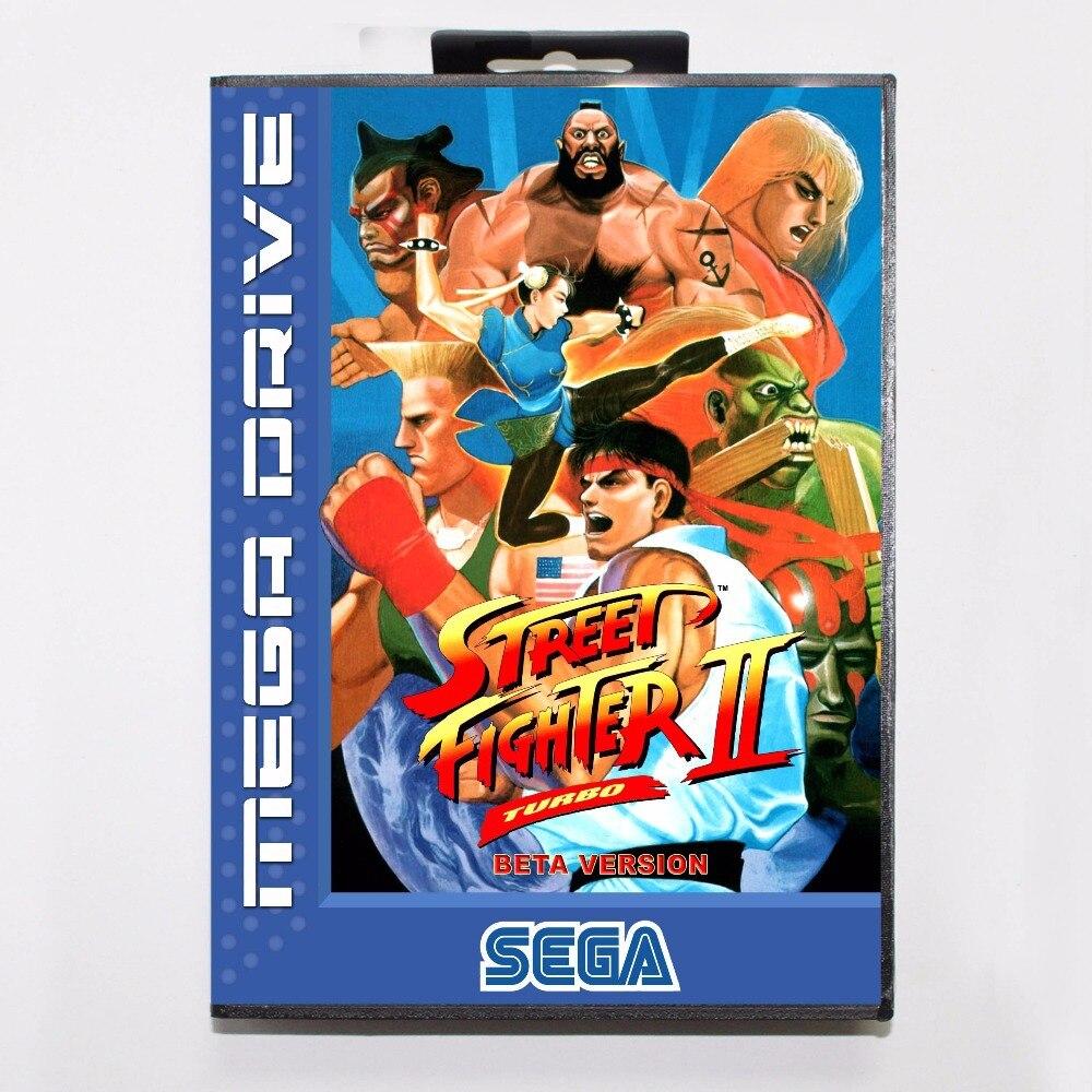 Street Fighter II Beta Version 16 bit MD Game Card With Retail Box For Sega Mega Drive/ GenesisStreet Fighter II Beta Version 16 bit MD Game Card With Retail Box For Sega Mega Drive/ Genesis