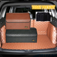 AUTOMOBILE STOWING TIDYING CAR INTERIOR SUPPLIES HIGH QUALITY LERTHER COLLECTION BAG