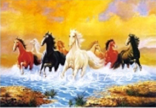 Good Quality 25*35cm HD PET Lenticular 3D Picture, 3D lenticular home decoration pictures,Without frame Free Shipping-horse