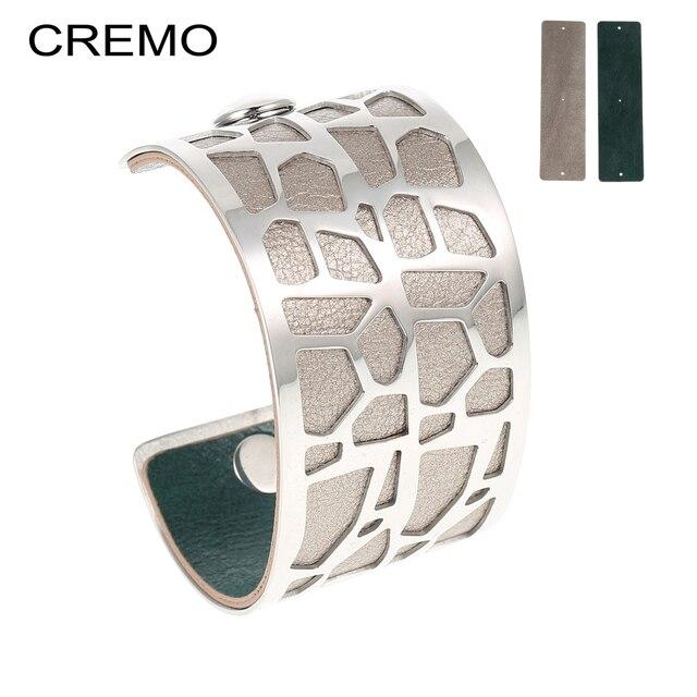 Cremo Giraffe Bangles & Bracelets Statement Femme Wide Bijoux Dainty Cuff Bangles Interchangeable Reversible Pulseiras Bracelet