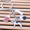 lovely dog bone sole feeding-bottle keychain keyring in lot fashion key chain set a string of bag charm pendant trinket gift
