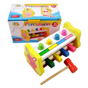 Кэндис Го! Супер милый горячая Распродажа забавные деревянные игрушки мультфильм кролик стучать игрушка перкуссия