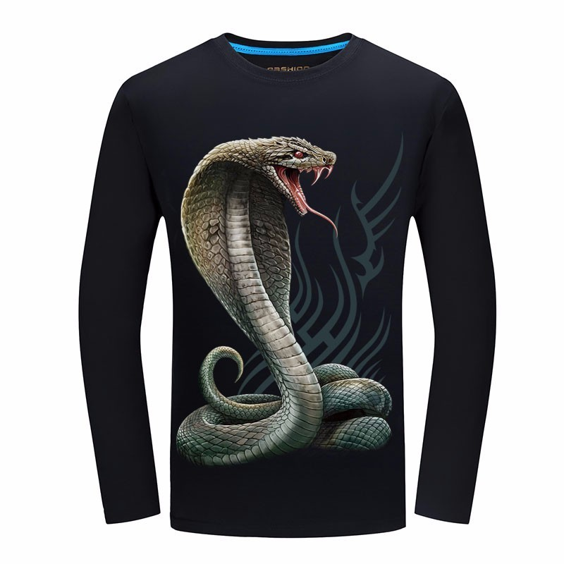 4ace50a924ae 2019 Spring New Brand long sleeve 3d Printed funny t shirt chemise ...