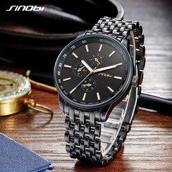 SINOBI Fashion & Casual Watch Men Women Watches Top Brand Luxury Black Saat Business Lover's Geneva Quartz Relogio Masculino