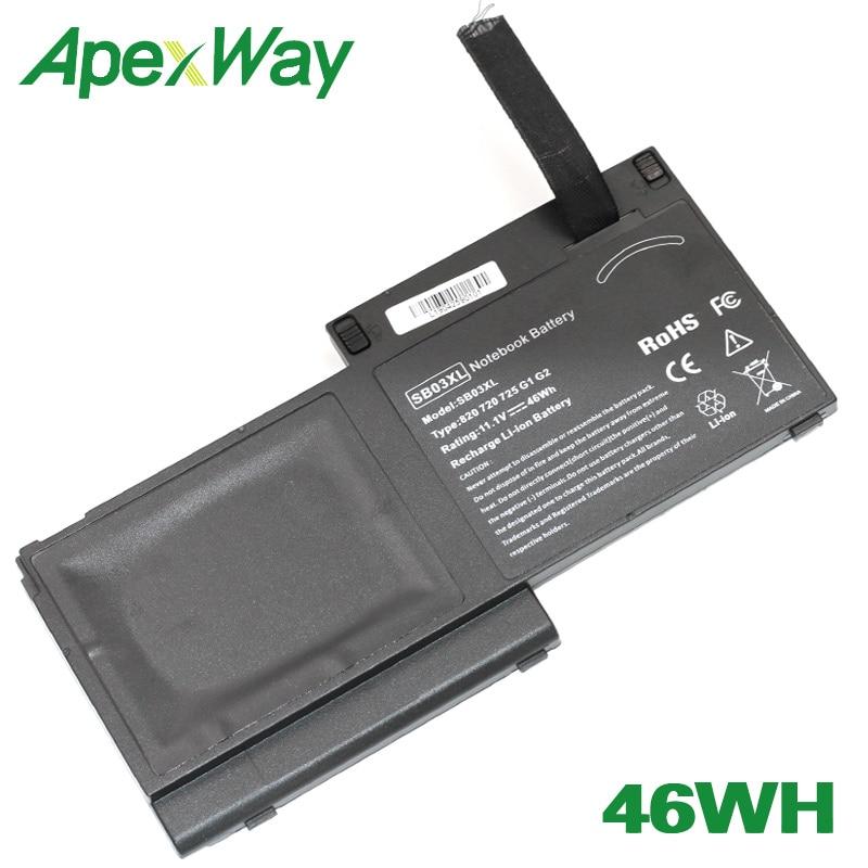 ApexWay 46WH Battery HSTNN-LB4T 716726-421 SB03XL HSTNN-IB4T 716726-1C1 for HP  EliteBook 820 725 720 G1ApexWay 46WH Battery HSTNN-LB4T 716726-421 SB03XL HSTNN-IB4T 716726-1C1 for HP  EliteBook 820 725 720 G1