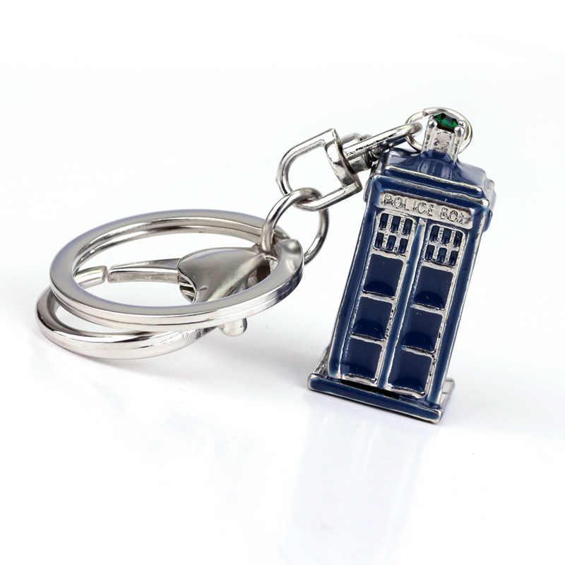 ใหม่ Doctor Who พวงกุญแจสร้อยคอ TARDIS จี้คีย์แหวนของขวัญ Chaveiro รถเครื่องประดับภาพยนตร์ Action Figure Cosplay ของเล่น 2 สี