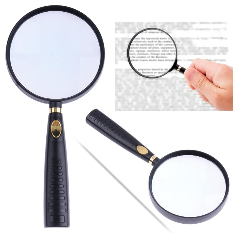 10X Portable Handheld High Definition Reading Magnifier Glass Eye Loupe Magnifying Glass Magnifier Lens for Reading Jewelry 10x magnifying glass 60mm portable handheld magnifier for jewelry newspaper book reading high definition eye loupe glass