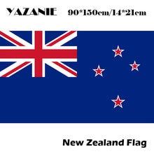Yazanie 90x150cm nova zelândia bandeira 3ft x 5ft pendurado nova zelândia bandeira poliéster bandeira padrão presentes felizes alta qualidade banner
