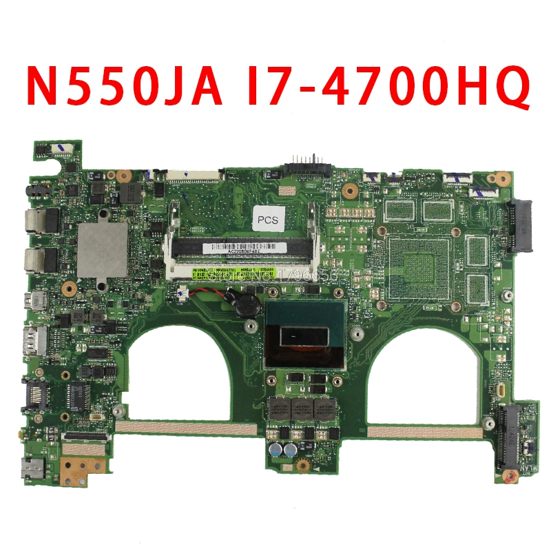 For ASUS N550 N550JA N550JV Motherboard processor i7-4700HQ DDR3L 1600 MHz HD Integrated Graphics 4600 full Tested free shipping цена